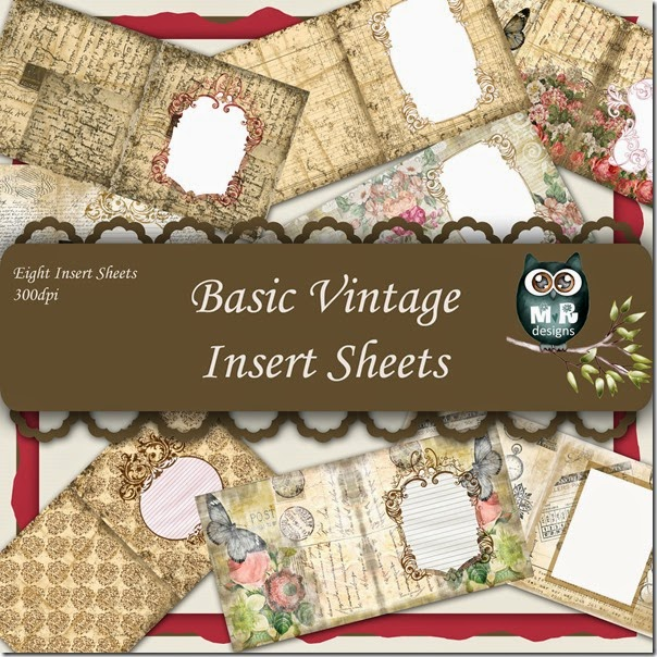 Basic Vintage Insert Sheet Front Page