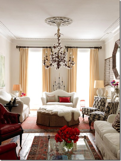 chandelier in living room