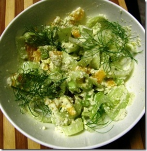 fennel, orange and macadamia salad