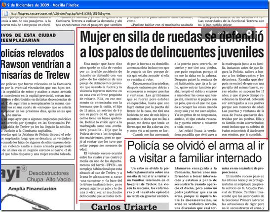 recorte diario robo 8-12-2009