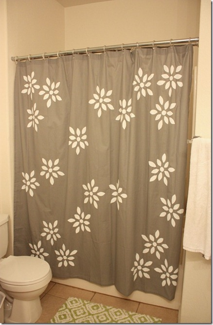 Screen Printed Shower Curtain