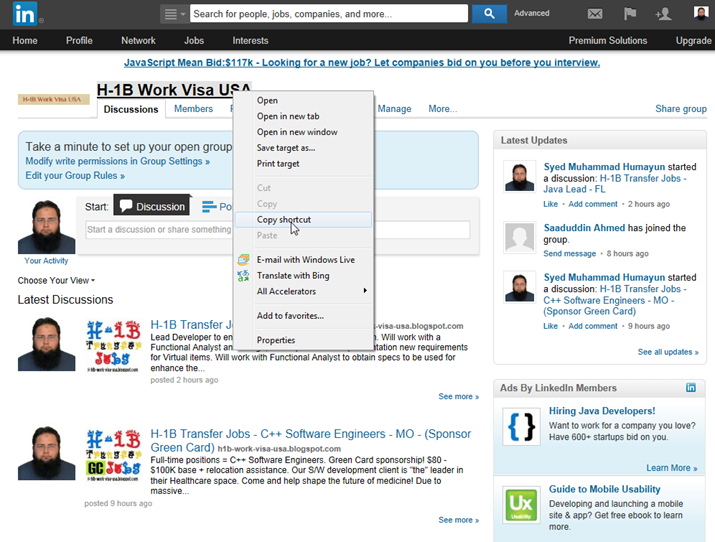 how to find linkedin group id