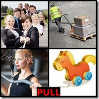PULL- 4 Pics 1 Word Answers 3 Letters