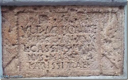 Lápida romana de la Calle Corredera - Elche