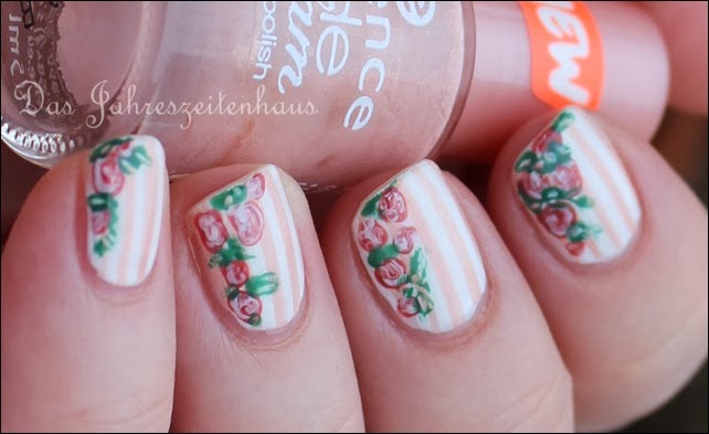 In Bloom Nail Art Roses Vintage Spring Design 5