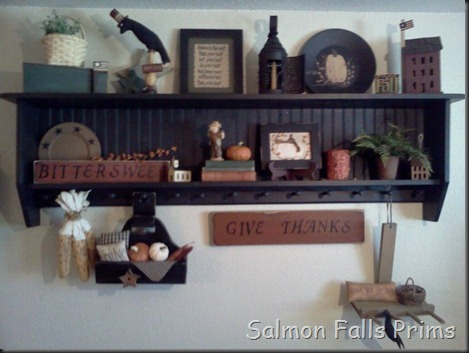 fall wall shelf