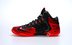 nike lebron 11 gr black red 2 02 New Photos // Nike LeBron XI Miami Heat (616175 001)
