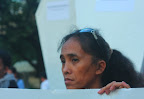 Mrs. Catherin Nunez, mother of slain UNTV cameraman Victor Nunez, joins the protest action in Manila marking the third anniversary of the Ampatuan Massacre. (Photo by Ronalyn V. Olea/ Bulatlat.com)