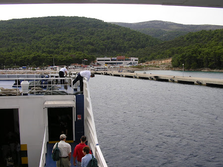 Arriving by ferry in Hvar