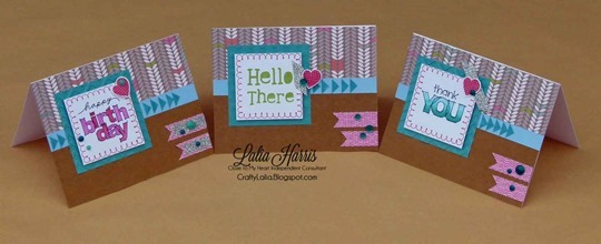 Cards Lollydoodle WOTG variation with CTMH Mini-Stamps by  Lalia Harris