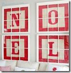 NOEL Alphabet Block Letter Art