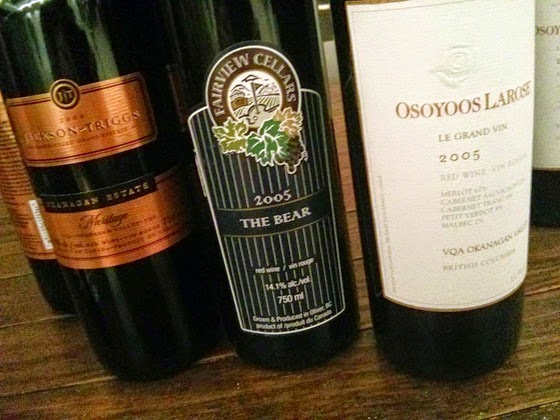 Jackson-Triggs Meritage, Fairview Cellars The Bear, Osoyoos Larose Le Grand Vin