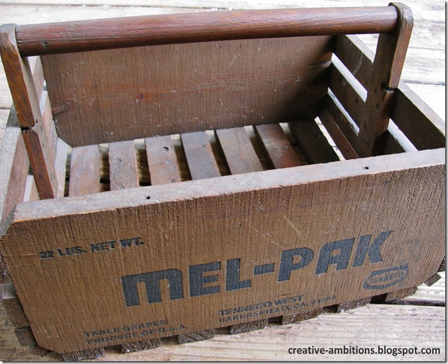 old grape crate