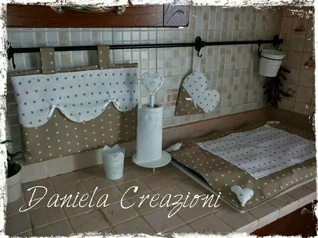 Daniela creazioni copriforno e coprifuoco shabbi chic - Coordinati cucina country ...