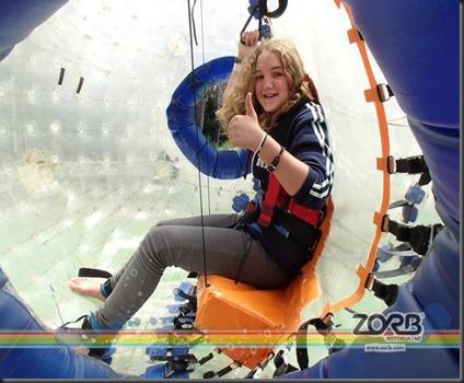 Hannah at Zorb