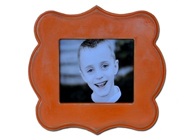 Orange Scallop Frame