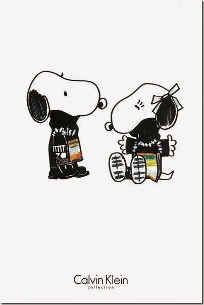 Peanuts X Metlife - Snoopy and Belle in Fashion by Calvin Klein collection