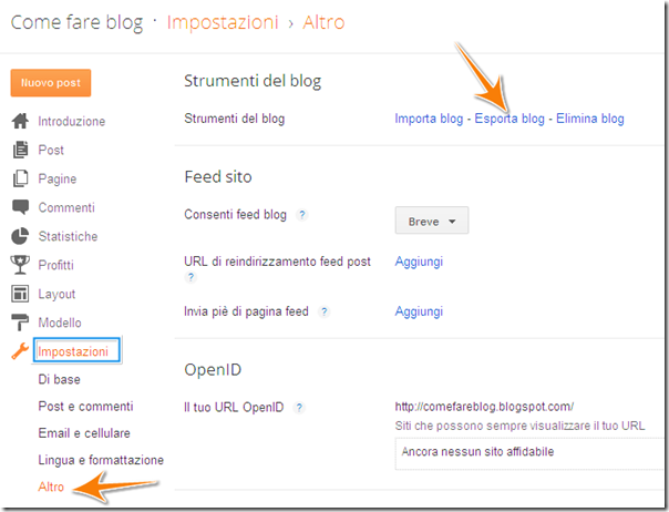 Come fare blog come salvare una copia di backup del for Fare la mia planimetria