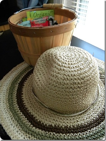 garden hat and basket