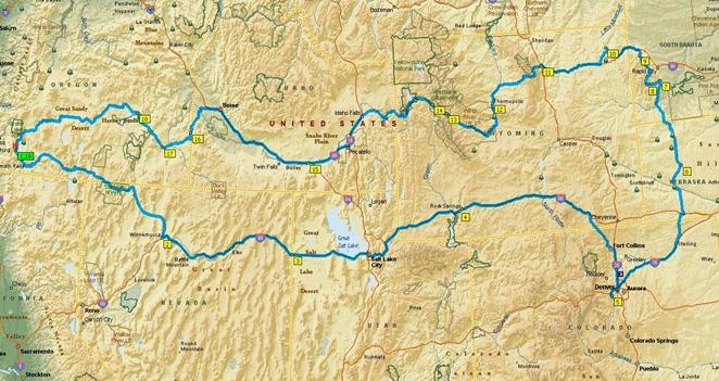 route map Colorado 2012