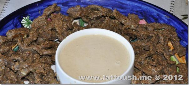 وصفة طرطور الطحينة من www.fattoush.me