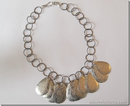 Teardrop Metal Necklace