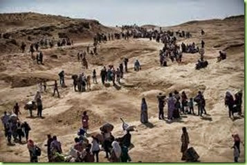 yazidis in mountains of Iraq