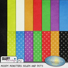 Moody Monsters Solids and Dots