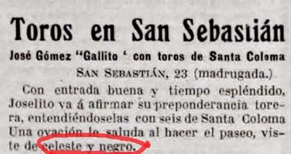 1915-08-22 (p. LL) San Sebastian Joselito color traje