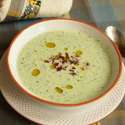 Chilled Cucumber Soup with Tapenade