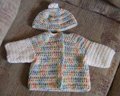Sweater set vari brights and white