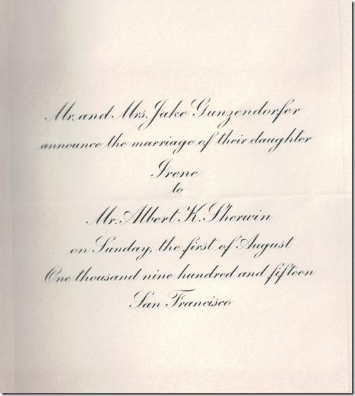 Invitation Sherwin Gunzendorfer