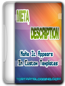 How to show description meta tags in custom templates
