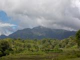 The rugged Matebean mountain range seen on approach to Baguia (Dan Quinn, December 2013)