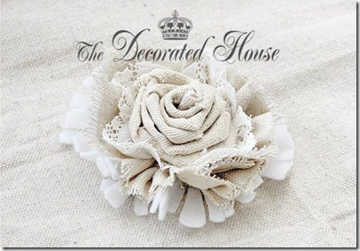The Decorated House Fabric Flower Tutorial Feb 2012