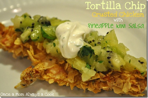 Tortilla Chip Crusted Chicken