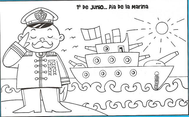 Da de la marina para colorear  Manualidades Infantiles