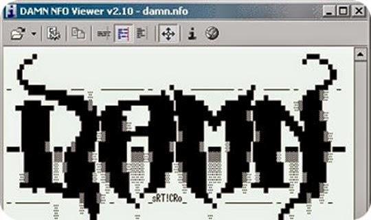 برنامج فتح ملفات .info الأنفو DAMN NFO Viewer