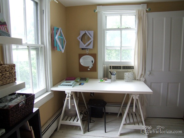 girly office guest room craft room redecorating in progress 1 (5)