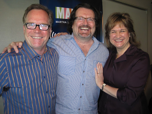 Andrew Dornenburg and Karen Page with their guest, chef Terrance Brennan.