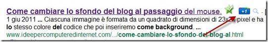 google plusone nei risultati di ricerca
