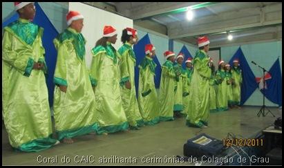 CAIC Formaturas CAD e PROEJA 1 - Coral do CAIC