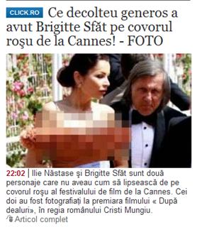 Ce decolteu generos a avut Brigitte Sfăt pe covorul roşu de la Cannes! - FOTO-195325