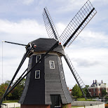windmill at huis ten bosch in Sasebo, Nagasaki, Japan