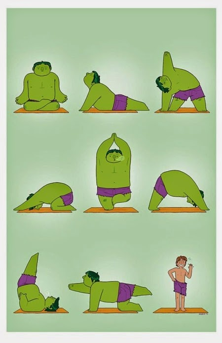 Hulk Yoga by Maris Wicks