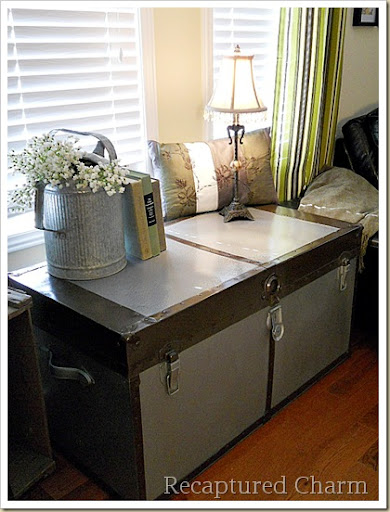 Simple Metal Trunk Makeover a