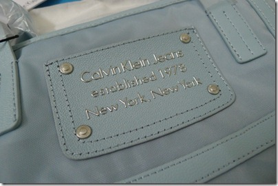 baby blue shopper bag, Calvin Klein
