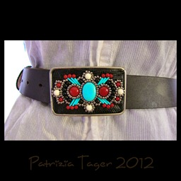 Belt Buckle Turq blck coral 02