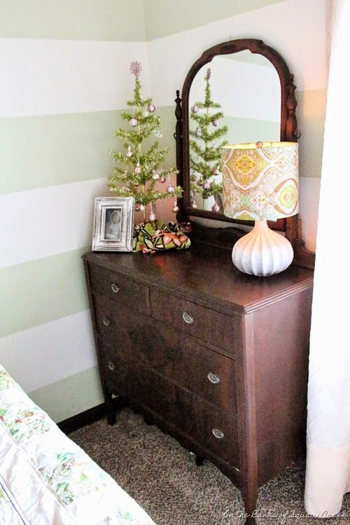 antique wooden dresser with mirror