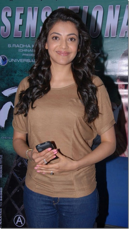 Hot Kajal Stills at Nayak Press Meet
